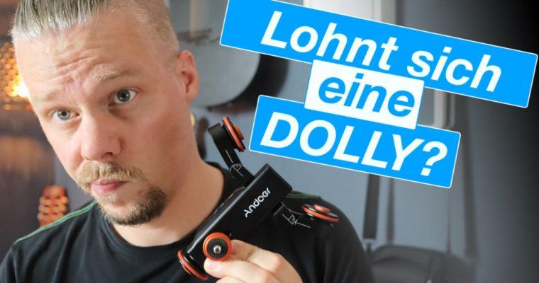 Perfekte Kamerafahrten mit DOLLY, der motorisierten Assistentin.